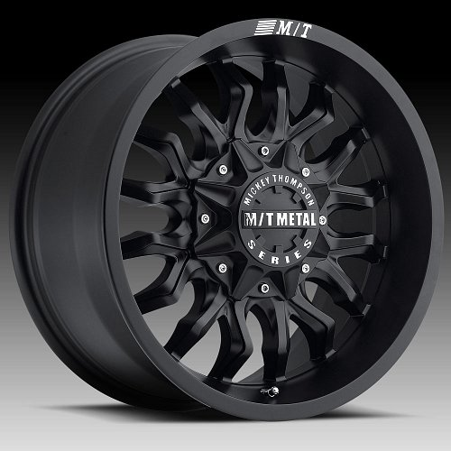 Mickey Thompson Metal Series MM489 Matte Black Custom Wheels Rims 1