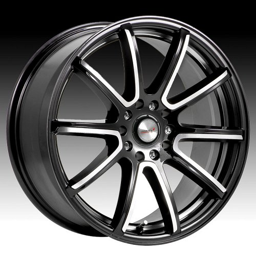 Maas 316MB 316 Silverstone Gloss Black w/ Machined Custom Rims Wheels 1