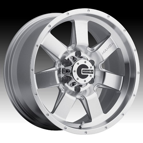 Mamba M14 Machined Silver Custom Wheels Rims 1