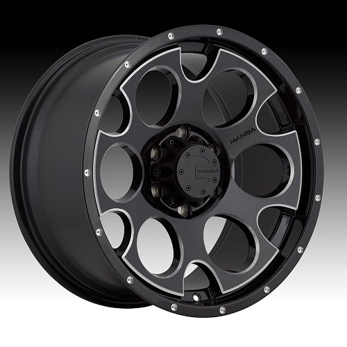 Mamba M17 Gloss Black Milled Custom Wheels Rims 1