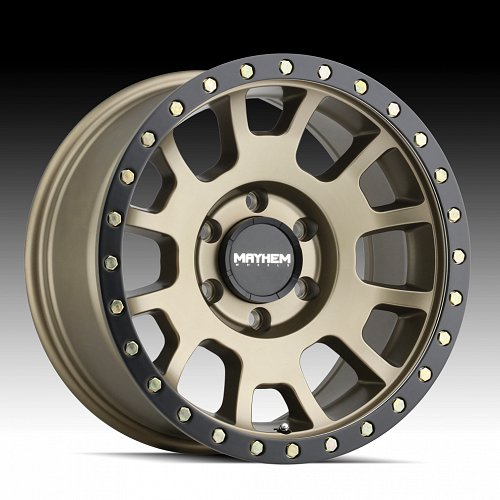 Mayhem Scout Flow Form 8302 Gold Custom Wheels Rims 1