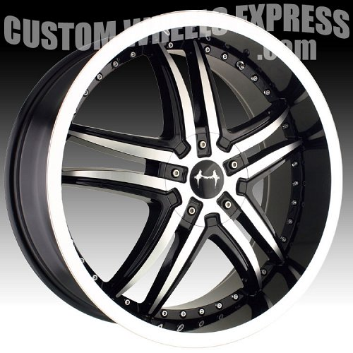 Mazzi Smoke 375 Machined Black Custom Wheels Rims 1
