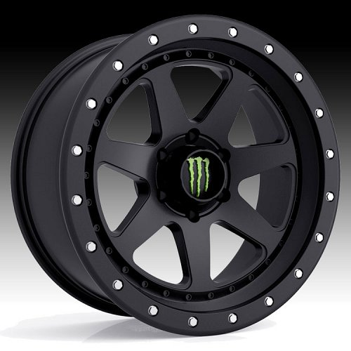 Monster Energy Edition 540B Satin Black Custom Wheels Rims 1
