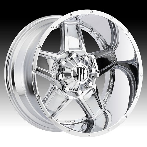 Monster Energy Edition 543C Chrome Custom Wheels Rims 1