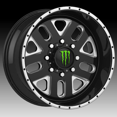 TIS Monster Energy Edition 539BM Black Milled Custom Wheels Rims 2