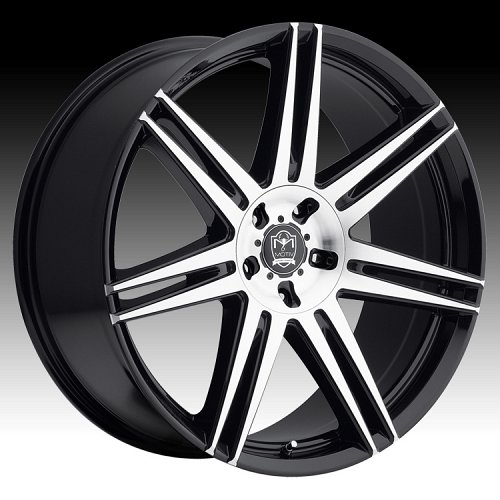 Motiv 414MB Modena Machined Black Custom Wheels Rims 1