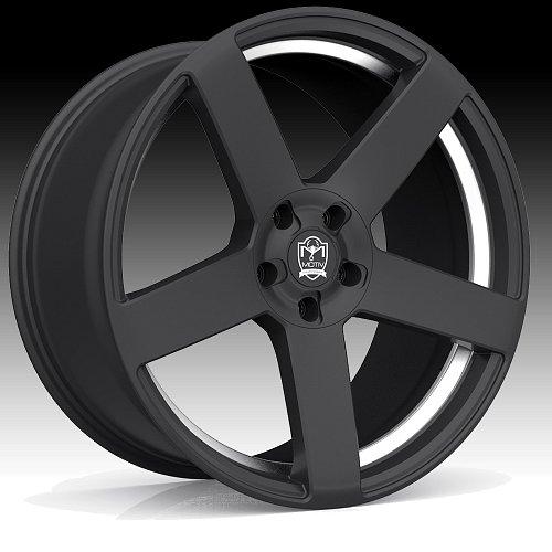 Motiv 416BU Monterey Satin Black Custom Wheels Rims 1
