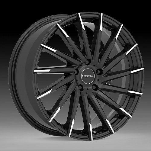 Motiv 417MBT Montage Gloss Black Machined Custom Wheels Rims 1