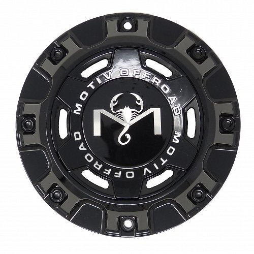 CAP-MT6-B19 / Motiv Offroad Gloss Black Bolt-On Center Cap 1