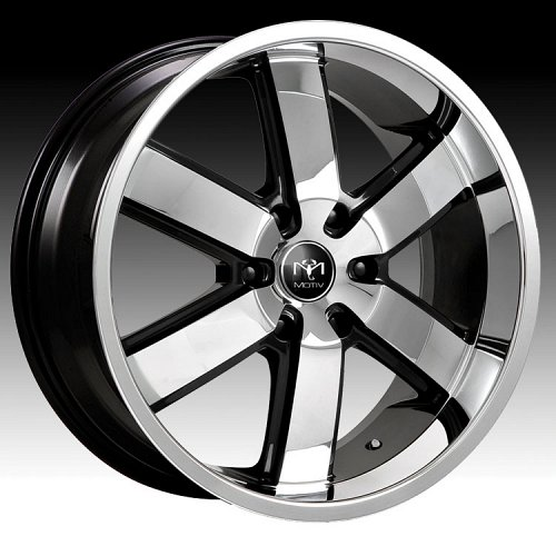 Motiv 403CB-6 Magnum Chrome w/ Gloss Black Custom Rims Wheels 1
