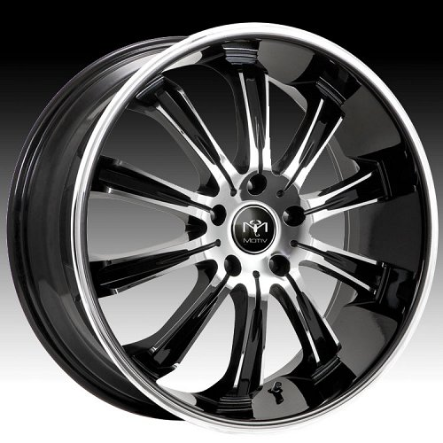 Motiv 405CB-5 Maximus Chrome w/ Gloss Black Accents Custom Rims Wheels 1