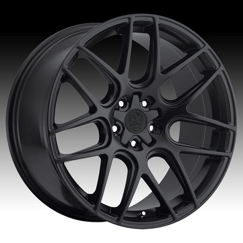 Motiv 409B Magellan Rich Satin Black Custom Rims Wheels 1