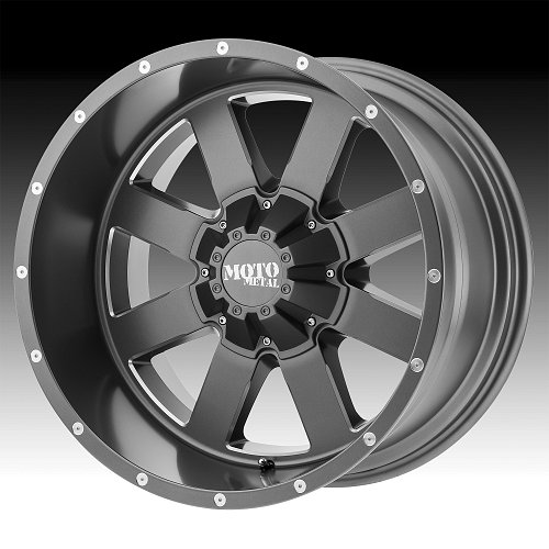 Moto Metal MO962 Satin Gray Milled Custom Wheels Rims 1