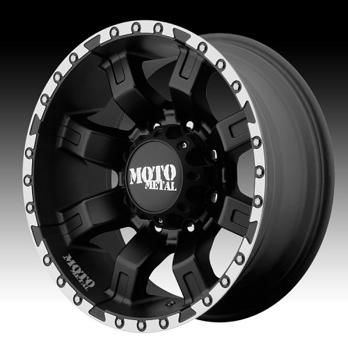 Moto Metal MO968 Satin Black Machined Edge Custom Wheels Rims 1