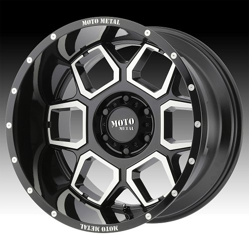 Moto Metal MO981 Machined Black Custom Wheels Rims 1