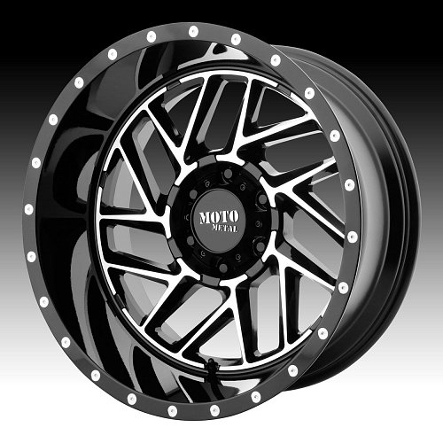 Moto Metal MO985 Breakout Machined Black Custom Wheels Rims 1
