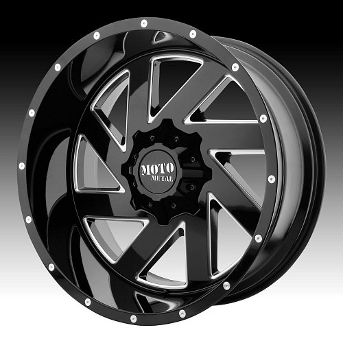 Moto Metal MO988 Melee Black Milled Custom Wheels Rims 1