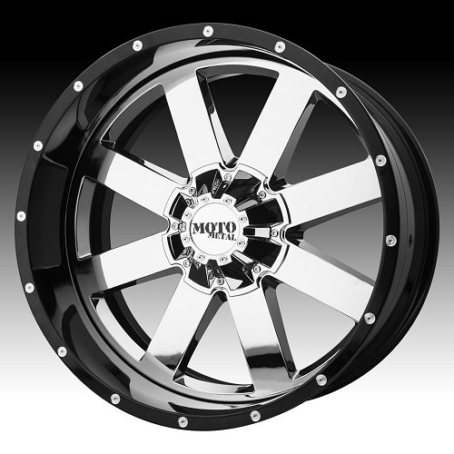 Moto Metal MO200 Chrome / Black Custom Wheels Rims 1
