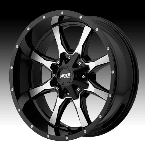 Moto Metal MO970 Machined Black Custom Wheels Rims 1