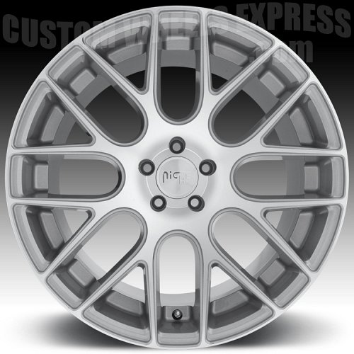 Niche M109 Circuit Machined Silver Custom Wheels Rims 2