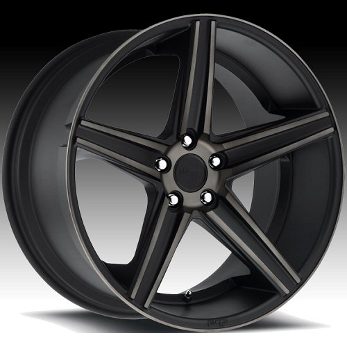 Niche M126 Apex Matte Black Machined with Dark Tinted Clearcoat Custom Wheels Rims 1