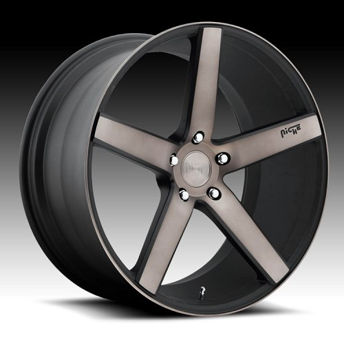 Niche M134 Milan Matte Black with Dark Tinted Clearcoat Custom Wheels Rims 1