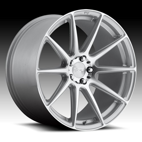 Niche M146 Essen Machined Silver Custom Wheels Rims 1