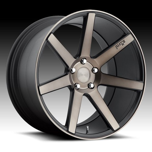 Niche M150 Verona Matte Black with Dark Tinted Clearcoat Custom Wheels Rims 1