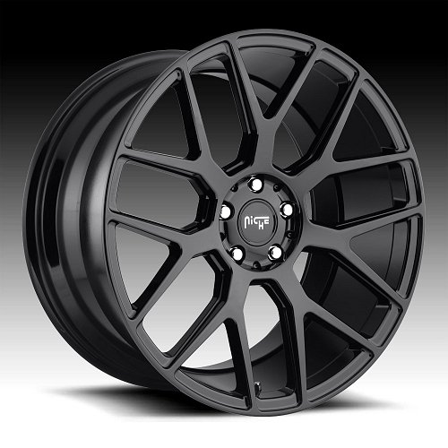 Niche Intake M189 Gloss Black Custom Wheels Rims 1