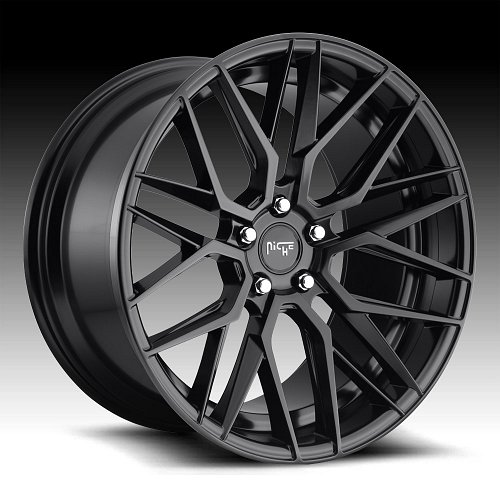 Niche Gamma M190 Matte Black Custom Wheels Rims 1