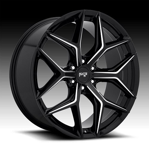 Niche Vice SUV M232 Gloss Black Milled Custom Wheels Rims 1