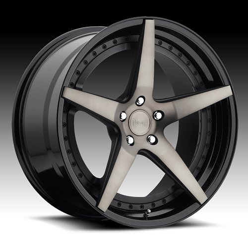 Niche Track M322 Le Mans Machined Black DDT Custom Wheels Rims 1