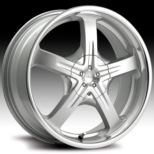 Pacer 774MS 774 Reliant Silver and Machined Custom Rims Wheels 1