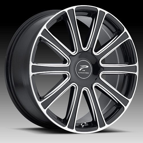 Platinum 410 Divine Gloss Black with Milled Accents Custom Wheels Rims 1