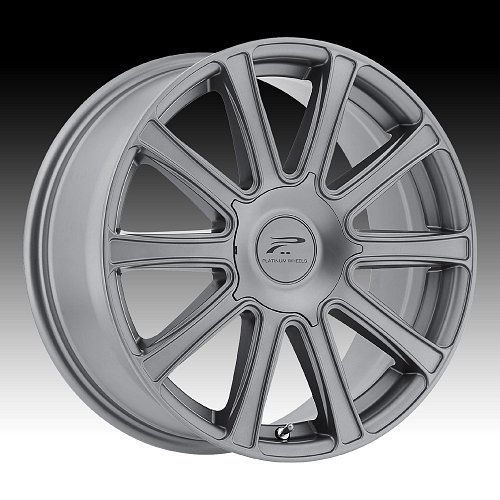 Platinum 410 Divine Satin Graphite Custom Wheels Rims 1