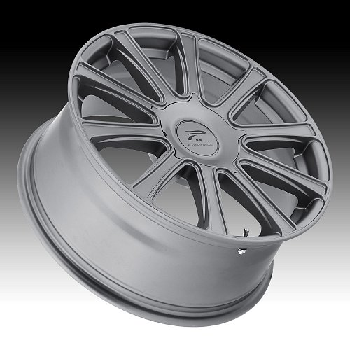 Platinum 410 Divine Satin Graphite Custom Wheels Rims 2