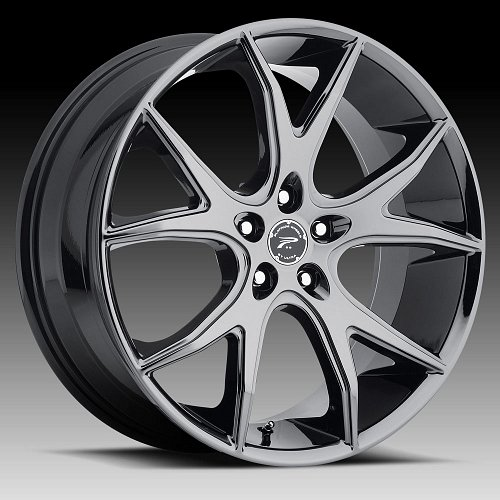 Platinum 419 Recluse Black Chrome PVD Custom Wheels Rims 1