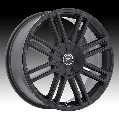 Platinum 434 Orion Satin Black Custom Wheels Rims 1