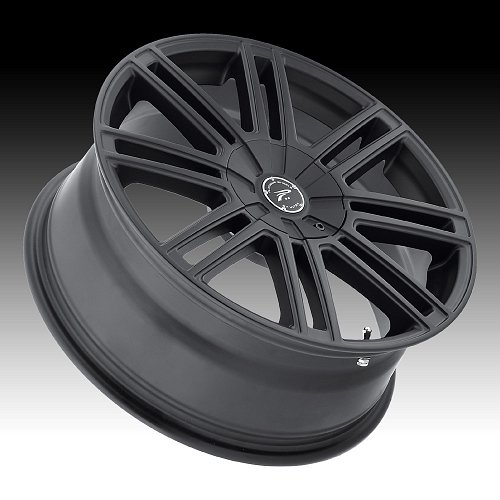 Platinum 434 Orion Satin Black Custom Wheels Rims 2