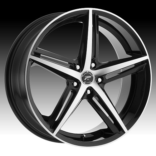 Platinum 440 Smooth Tip Machined Black Custom Wheels Rims 1