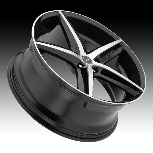 Platinum 440 Smooth Tip Machined Black Custom Wheels Rims 2