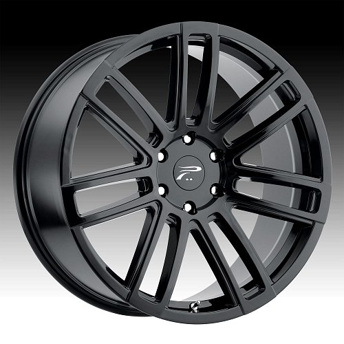Platinum 441 Ghost Gloss Black Custom Wheels Rims 1