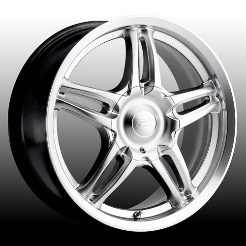 Platinum 269 Fury Hypersilver w/ Machined Lip Custom Rims Wheels 1