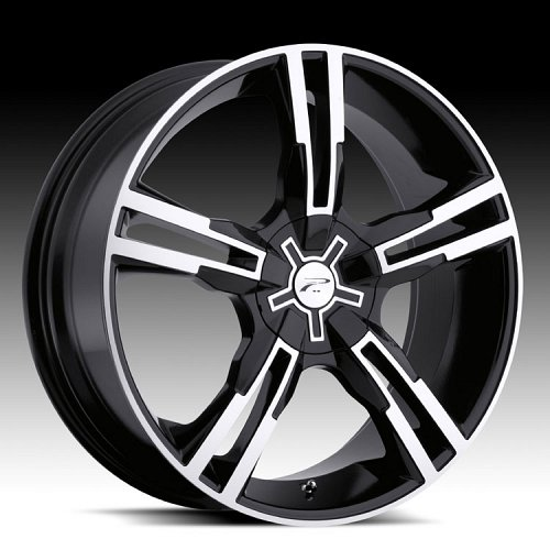 Platinum 291B 291 / 292B 292 Saber Black and Machined Custom Rims Wheels 1