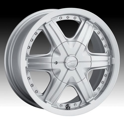 Platinum 296S 296 / 297S 97 Flair FWD Silver Custom Rims Wheels 1