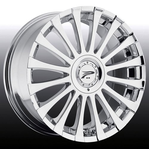 Platinum 405C 405 Emotion Chrome Custom Rims Wheels 1