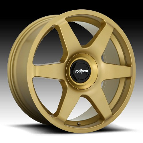 Rotiform SIX R118 Matte Gold Custom Wheels Rims 1