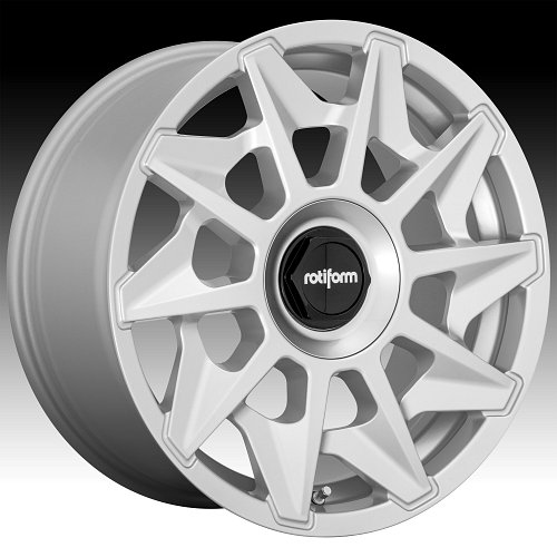 Rotiform CVT R124 Gloss Silver Custom Wheels Rims 1