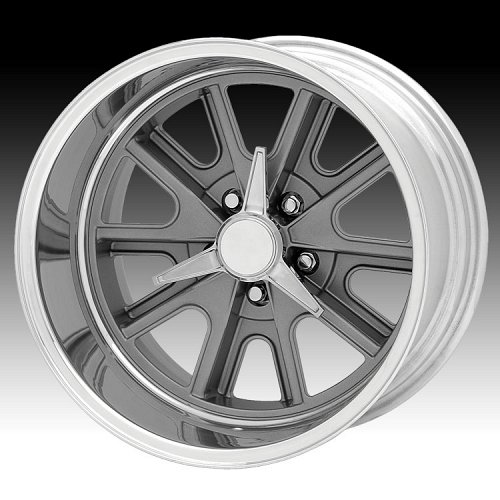 American Racing Shelby® Cobra® VN427 Gray Center w/ Polished Custom Rims Wheels 1