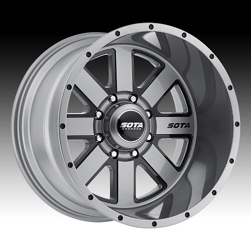 SOTA Offroad AWOL Anthra-Kote Black Custom Truck Wheels Rims 1